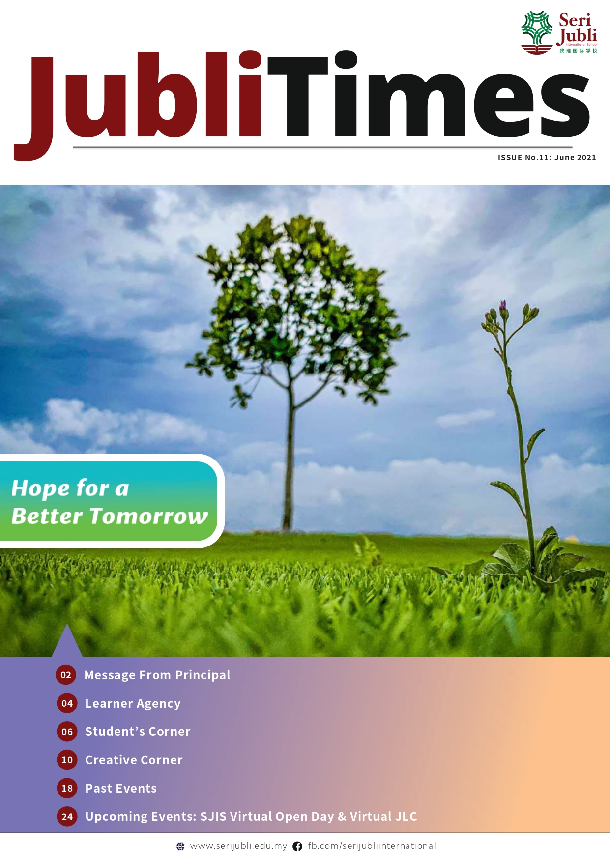 Jubli Times Issue No. 11 - June 2021 cover